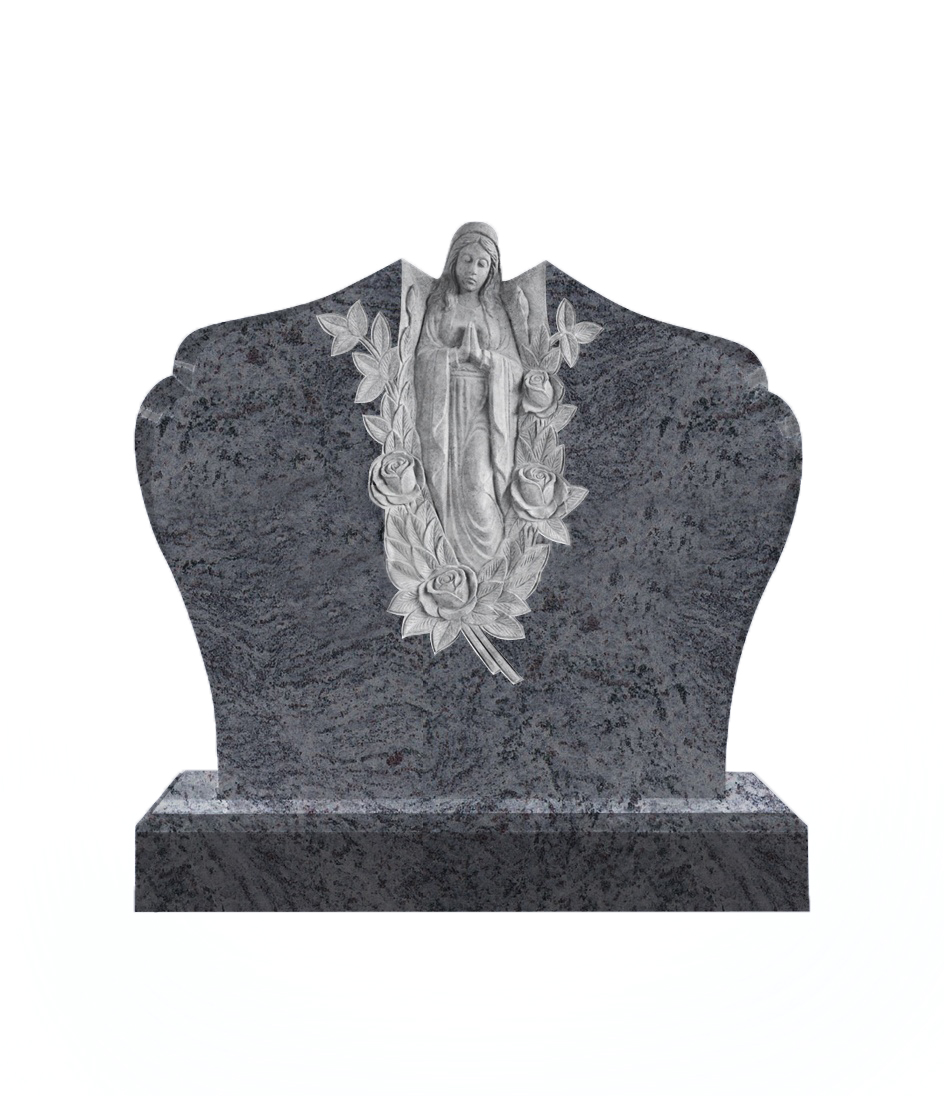 Памятник №10 элитный горизонтальный 1100*1300*100 (Индия, голубой К10)