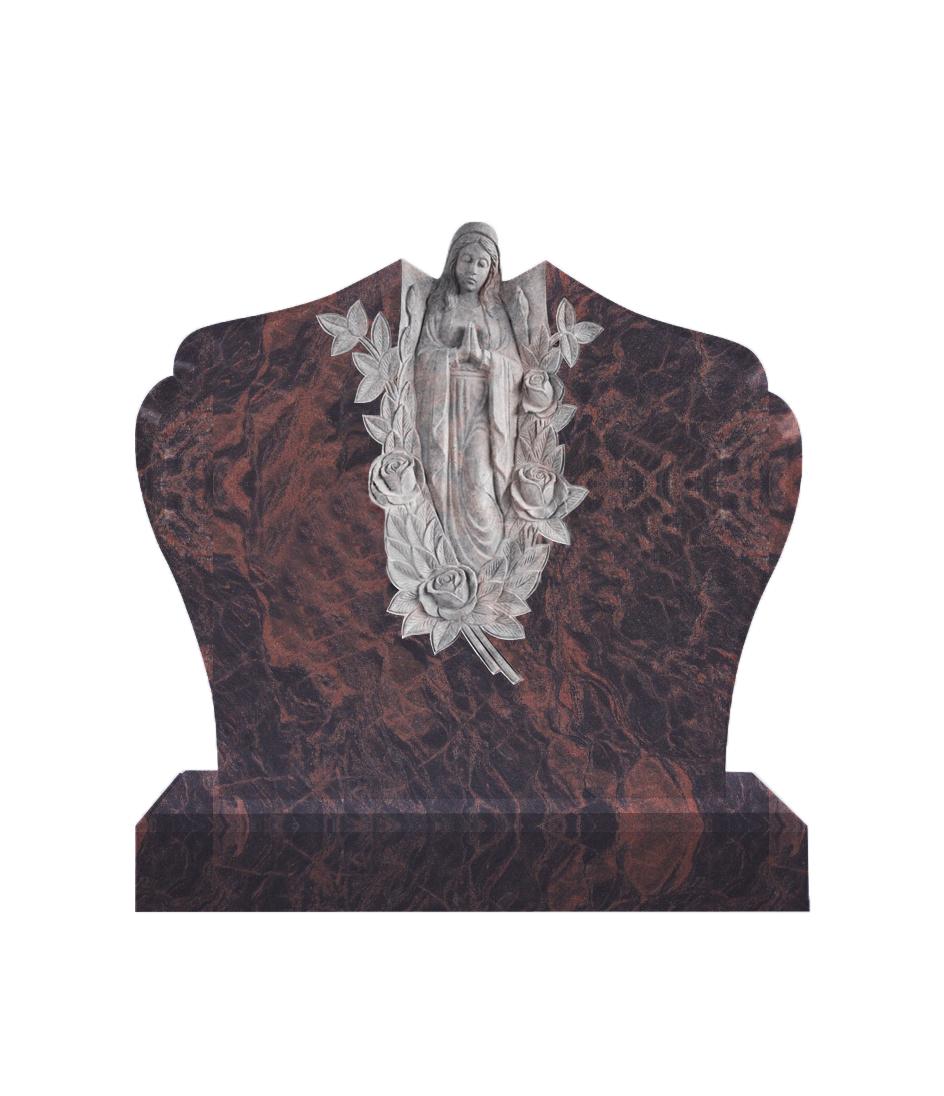 Памятник №10 элитный горизонтальный 1100*1300*100 (Индия, коричневый К11)