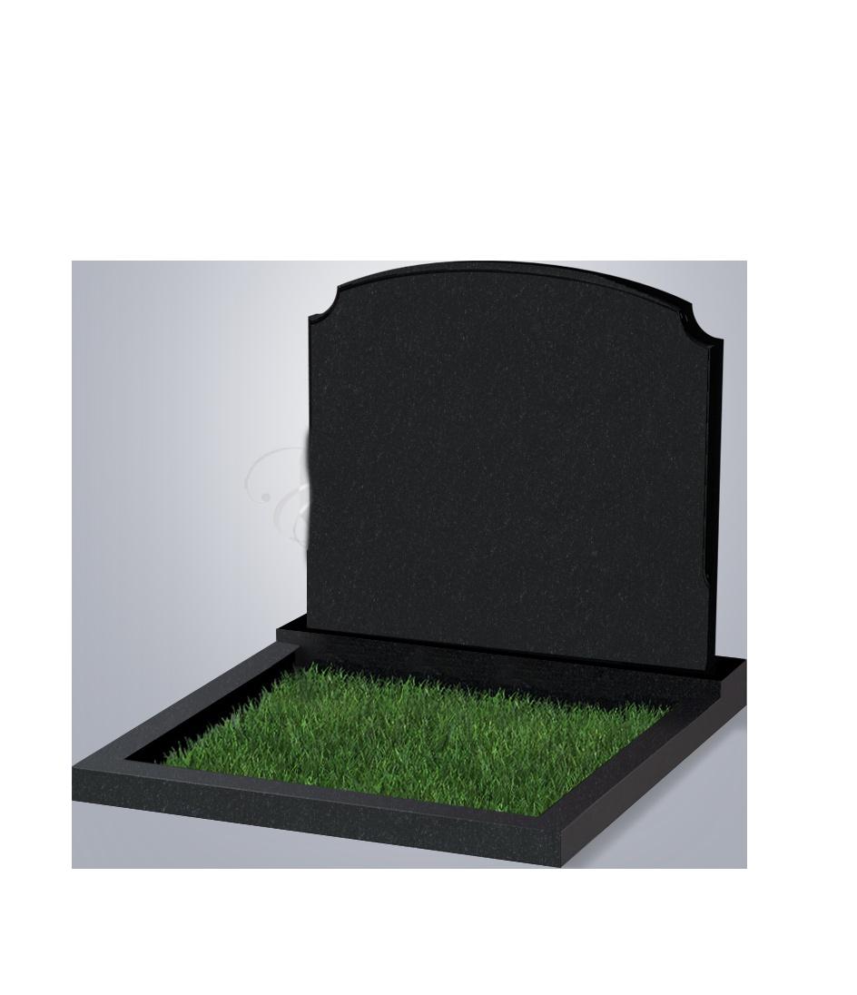 017 Памятник фиг. 900*1000*70 (№ 17 К06, габбро черный)