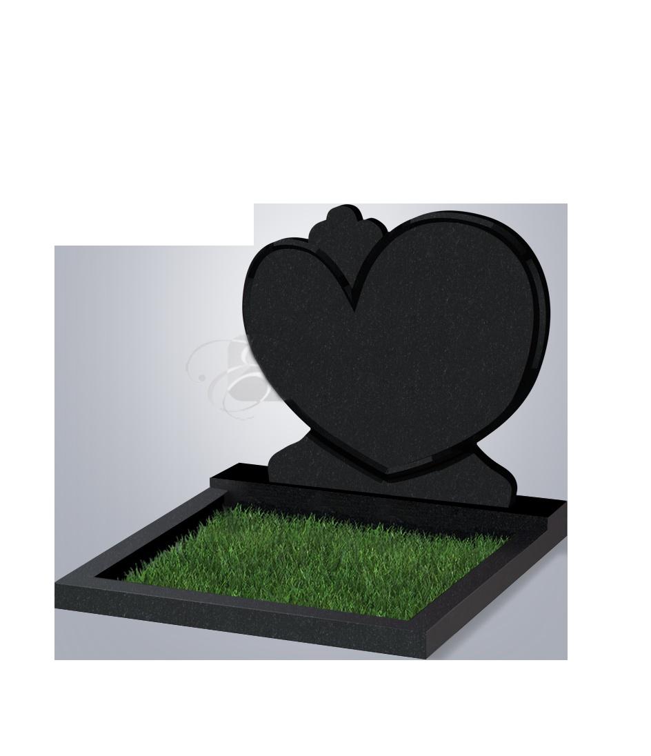 054 Памятник фиг. 900*1000*70 (№ 54 К06, габбро черный)