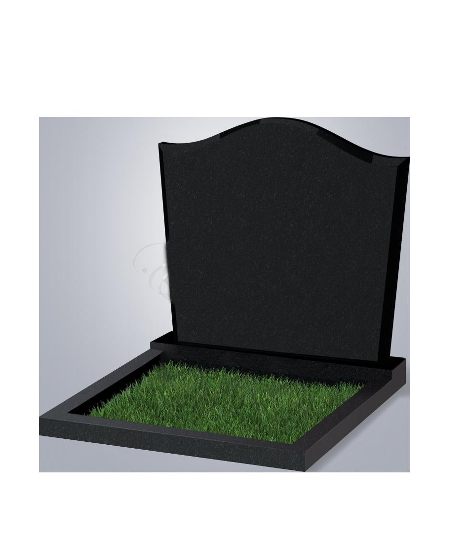 060 Памятник фиг. 900*1000*70 (№ 60 К06, габбро черный)