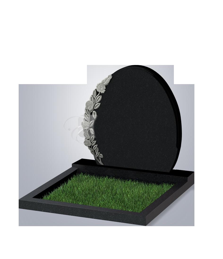 063 Памятник фиг. 820*820*70 (№ 63 К06, габбро черный)