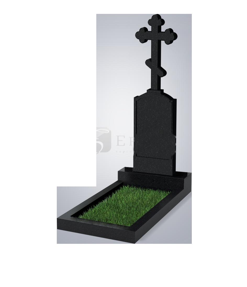 069 Памятник фиг. 800*400*100 (№ 69 К06, габбро черный)