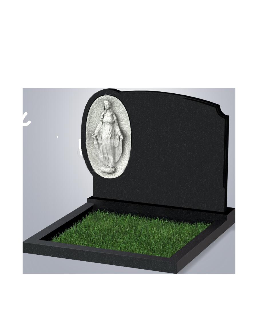071 Памятник фиг. 900*1200*70 (№ 71 К06, габбро черный)