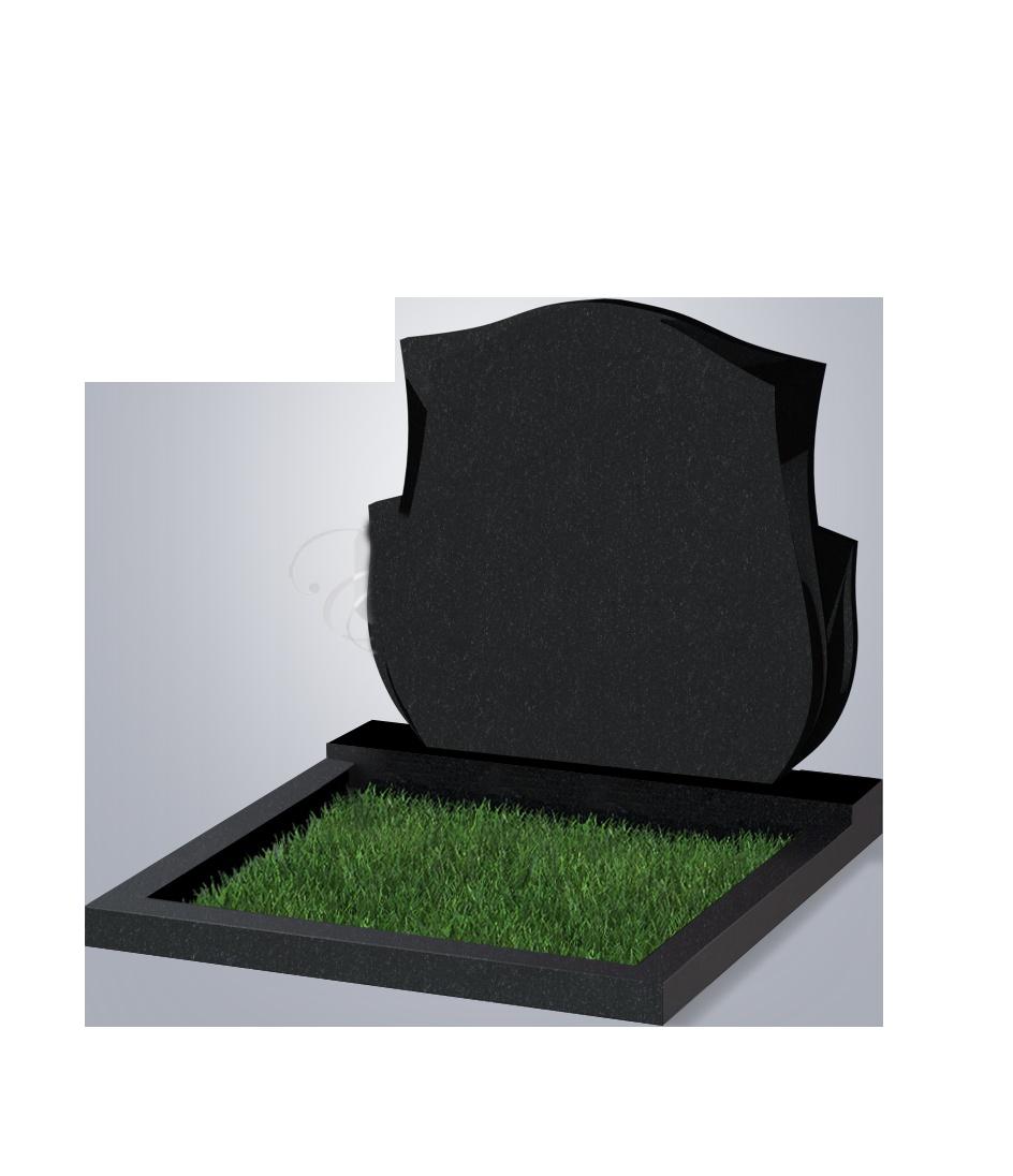 087 Памятник фиг. 900*1000*70 (№ 87 К06, габбро черный)