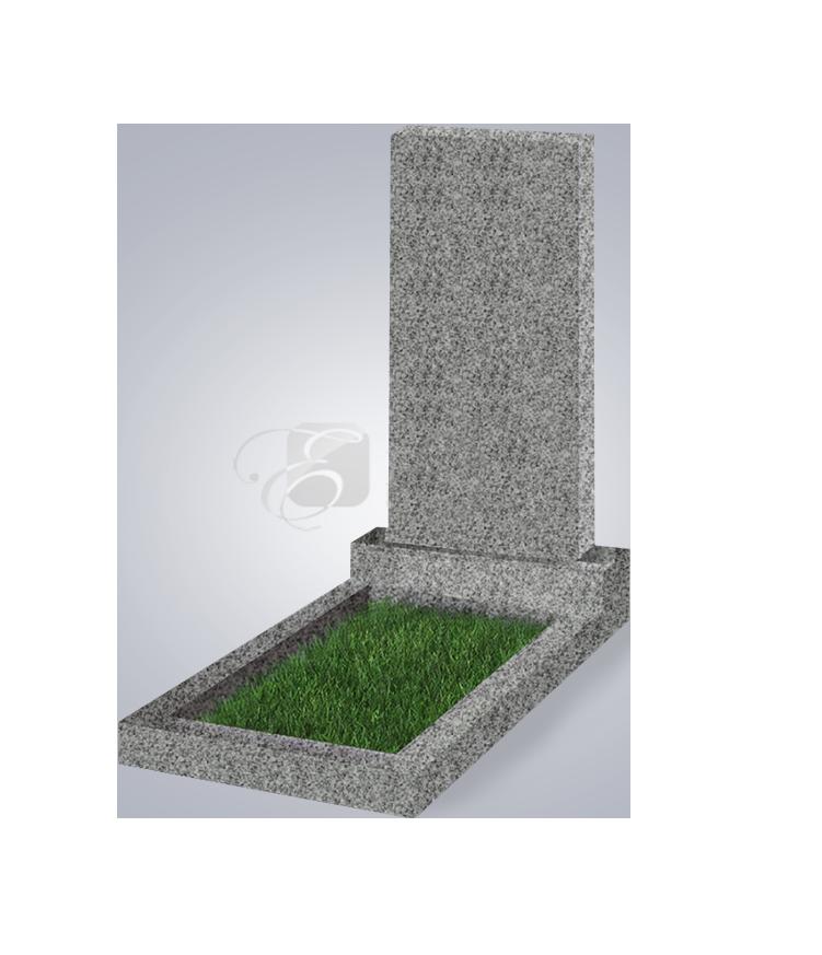 Памятник пр. 1000*500*50 (G654, гранит тем.-сер.)