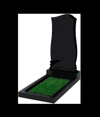 Памятник №48 экономный вертикальный 1000*450*50 (Россия, черный)