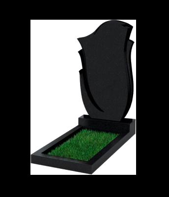Памятник №55 экономный вертикальный 1000*500*50 (Россия, черный)