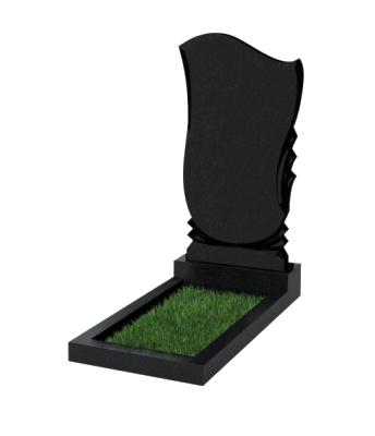 Памятник №56 экономный вертикальный 1000*500*50 (Россия, черный)