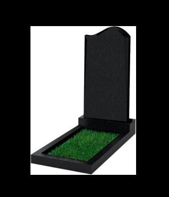 Памятник №14 экономный вертикальный 1000*500*50 (Россия, черный)