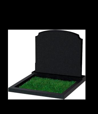 Памятник №17 экономный горизонтальный 700*900*50 (Россия, черный)