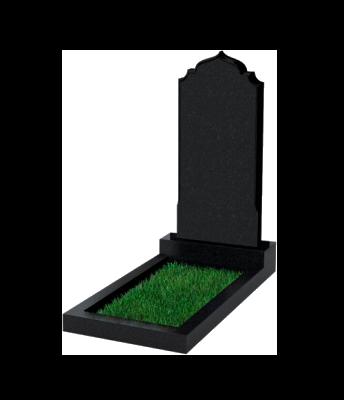 Памятник №19 экономный вертикальный 1000*450*50 (Россия, черный)