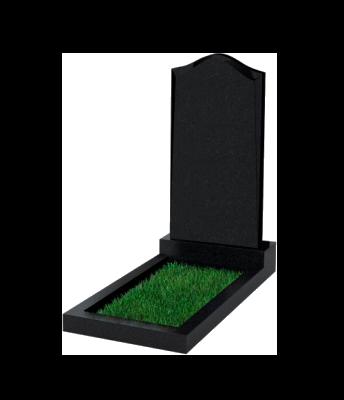 Памятник №22 экономный вертикальный 1000*500*50 (Россия, черный)
