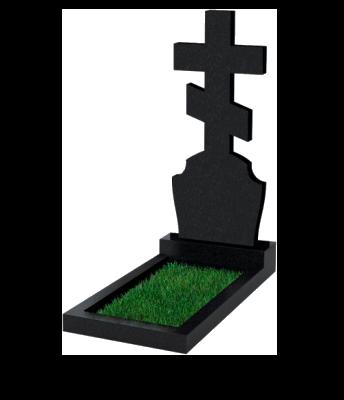 Памятник №40 экономный вертикальный 1000*500*50 (Россия, черный)