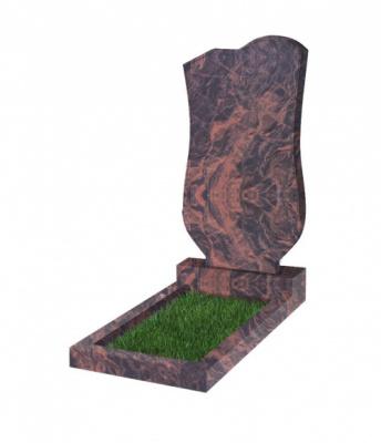 Памятник №15 резной вертикальный 1100*600*70 (Индия, коричневый К11)