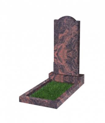 Памятник №10 резной вертикальный 1000*450*70 (Индия, коричневый К11)