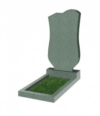 Памятник №15 резной вертикальный 1100*600*70 (Китай, зеленый К02)