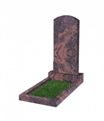 Памятник №18 резной вертикальный 1000*450*70 (Индия, коричневый К11)