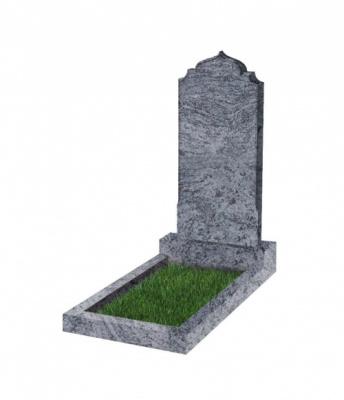 Памятник №19 резной вертикальный 1000*450*70 (Индия, голубой К10)