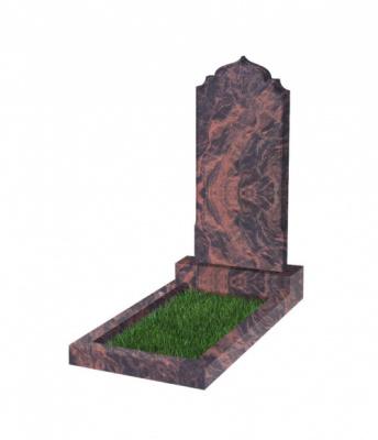 Памятник №19 резной вертикальный 1000*450*70 (Индия, коричневый К11)