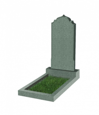 Памятник №19 резной вертикальный 1000*450*70 (Китай, зеленый К02)