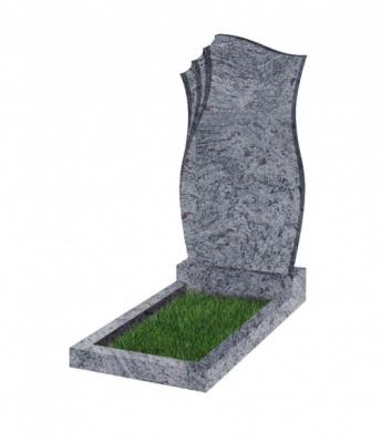 Памятник №20 резной вертикальный 1100*600*70 (Индия, голубой К10)