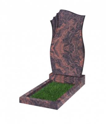Памятник №20 резной вертикальный 1100*600*70 (Индия, коричневый К11)
