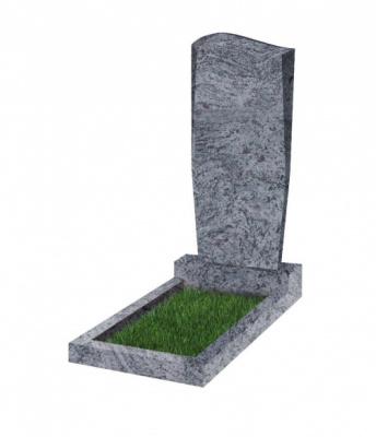 Памятник №21 резной вертикальный 1100*500*70 (Индия, голубой К10)