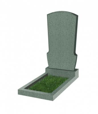 Памятник №23 резной вертикальный 1100*600*70 (Китай, зеленый К02)