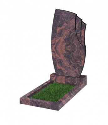 Памятник №26 резной вертикальный 1100*600*70 (Индия, коричневый К11)