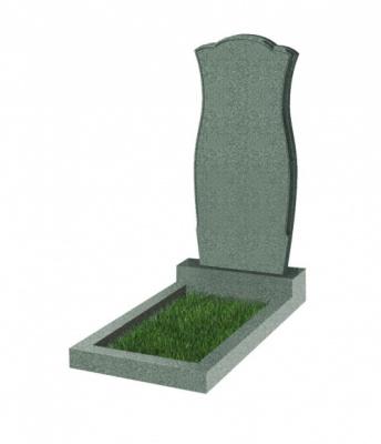 Памятник №30 резной вертикальный 1100*500*70 (Китай, зеленый К02)