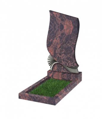 Памятник №31 резной вертикальный 1100*600*70 (Индия, коричневый К11)