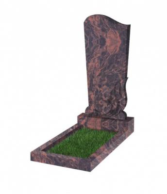 Памятник №33 резной вертикальный 1100*500*70 (Индия, коричневый К11)