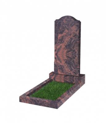 Памятник №11 резной вертикальный 1100*500*70 (Индия, коричневый К11)
