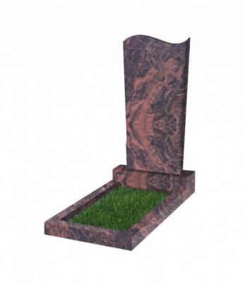 Памятник №13 резной вертикальный 1100*500*70 (Индия, коричневый К11)