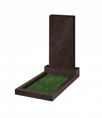 Памятник прямоугольный вертикальный 1000*500*70 5-сторонняя полировка (Россия, коричневый К14)