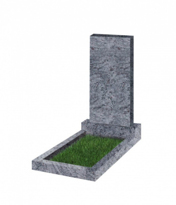 Памятник прямоугольный вертикальный 1100*500*70 (Индия,голубой К10)