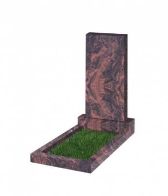 Памятник прямоугольный вертикальный 1200*600*70 (Индия,коричневый К11)