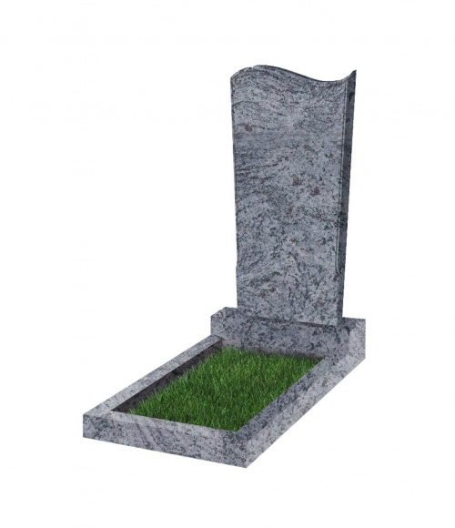 Памятник №13 резной вертикальный 1100*500*70 (Индия, голубой К10)