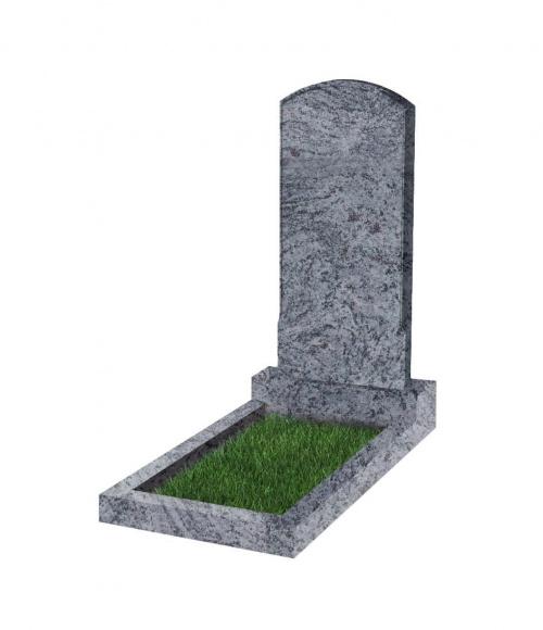 Памятник №18 резной вертикальный 1000*450*70 (Индия, голубой К10)