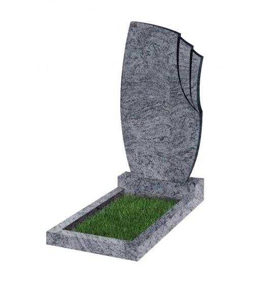 Памятник №26 резной вертикальный 1100*600*70 (Индия, голубой К10)