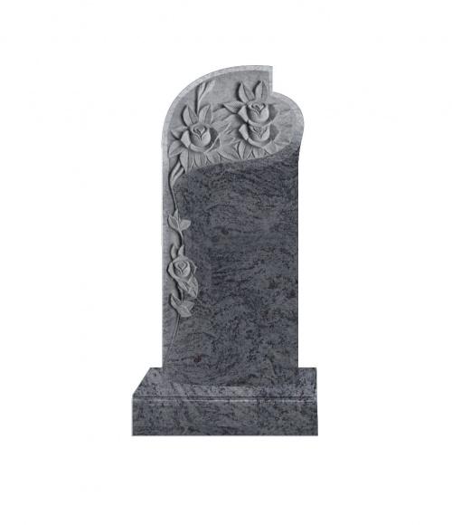 Памятник №12 элитный вертикальный 1600*700*120 (Индия, голубой К10)
