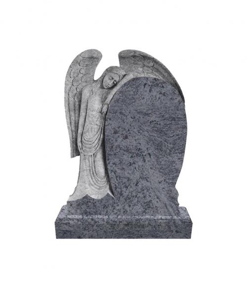 Памятник №14 элитный вертикальный 1400*1000*120 (Индия, голубой К10)