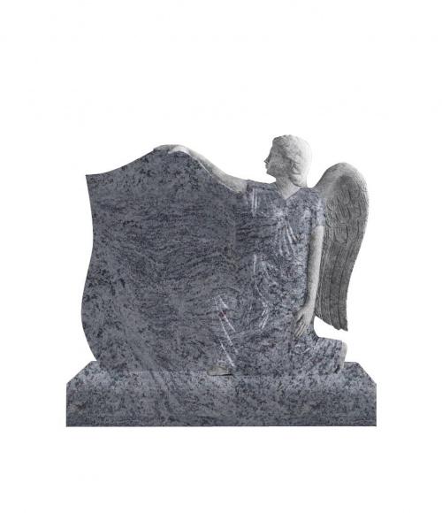 Памятник №15 элитный вертикальный 1200*1000*140 (Индия, голубой К10)
