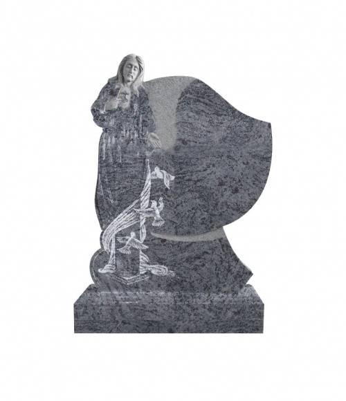 Памятник №18 элитный вертикальный 1300*1000*120 (Индия, голубой К10)