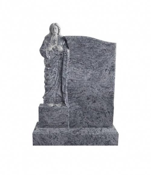 Памятник №21 элитный вертикальный 1300*900*120 (Индия, голубой К10)