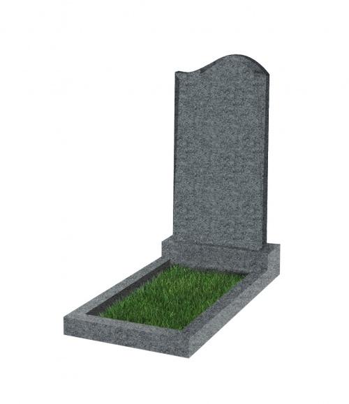 Памятник №14 экономный  вертикальный 800*450*50 (Китай, темно-серый К04)