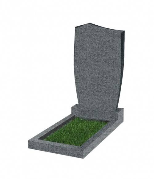 Памятник №29 экономный вертикальный 1000*500*50 (Китай, темно-серый G654)