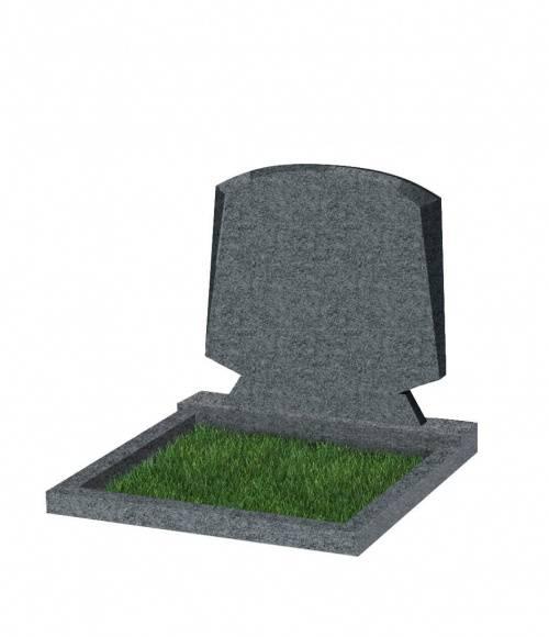 Памятник №66 экономный горизонтальный 700*900*50 (Китай, темно-серый G654)