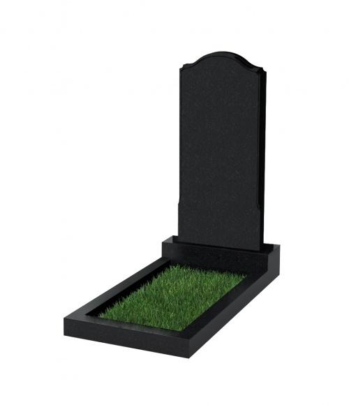 Памятник №11 экономный вертикальный 1100*500*50 (Китай, черный К06)